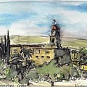 Toplou Monastery Poster by Kostas Koutsoukanidis