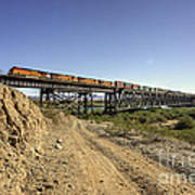 Topock Bridge Freight Poster