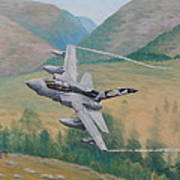Tornado Gr4 - Shiny Two Flying Low Poster