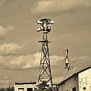 Tornado Siren In A Ghost Town Poster