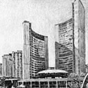Toronto City Hall I Study Poster