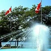 Toronto Island Fountain Poster
