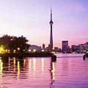 Toronto Skyline At Sunset, Toronto Poster by Peter Mintz