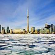 Toronto Skyline In Winter Poster