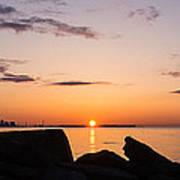 Toronto Skyline Panorama At Sunrise Poster