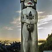Totem At White Rock Poster