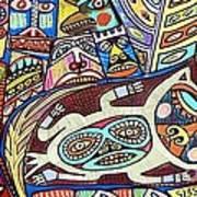 Totem Wolf Mother Spirit Poster