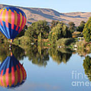 Touchdown On The Yakima River Poster