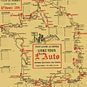 Tour De France 1914 Poster