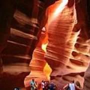 Touring Antelope Canyon Poster