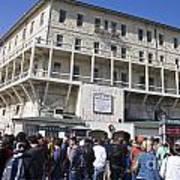 Tourists At Alcatraz Island Poster