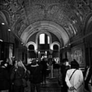 tourists inside the Gedenkhalle memorial hall of Kaiser Wilhelm Gednachtniskirche Poster