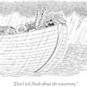 Tourists On Noah's Ark Poster