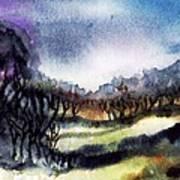 Towards The Misty Bogland  Poster by Trudi Doyle