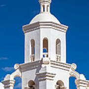 Tower At Mission San Xavier Del Bac Poster