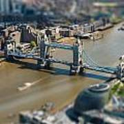 Tower Bridge And London City Hall Aerial View Poster