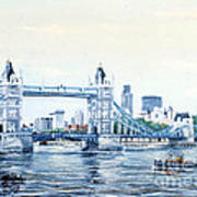 Tower Bridge And The City Of London Poster