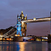 Tower Bridge Illuminated For Je Suis Charlie Poster by Ivelin Donchev