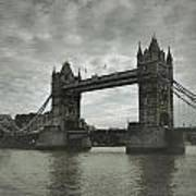 Tower Bridge In London Over The Thames Poster