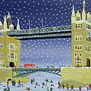 Tower Bridge Skating On Thin Ice Poster