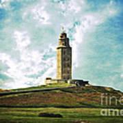 Tower Of Hercules La Coruna Poster