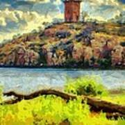 Tower On The Bluff Poster
