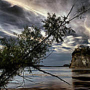 Tower Rock In The Mississippi River Poster