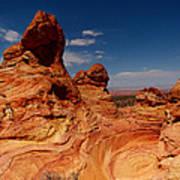 Towering Red Rocks Poster