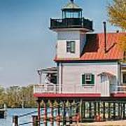 Town Of Edenton Roanoke River Lighthouse In Nc Poster