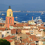 Town Of St Tropez Cote D'azur France Poster