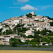 Town On A Hill, D51, Sault, Vaucluse Poster