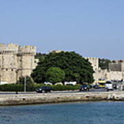 Town Wall - Rhodos City Poster