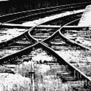 Tracks Poster by Alan Oliver