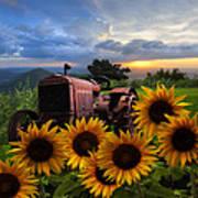 Tractor Heaven Poster by Debra and Dave Vanderlaan