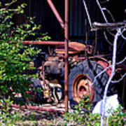 Tractor In Shed Poster
