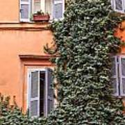 Traditional House Rome Italy Poster