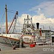 Traditional Taiwan Fishing Boat In Port Poster