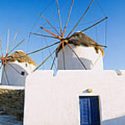 Traditional Windmill In A Village Poster