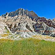 Trailhead For Saddle Pass Trail In Badlands National Park-south Dakota   Poster