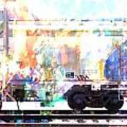 Train Abstract Blend 4 Poster