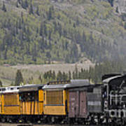 Train Arriving In Silverton Poster