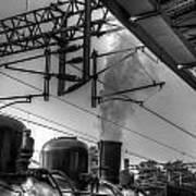 Train At Miaoli Station Poster