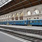 Train At Station Platform Budapest Hungary Poster