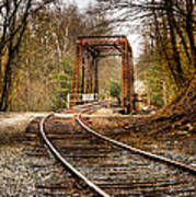 Train Memories Poster by Debra and Dave Vanderlaan