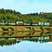 Train Reflecting Poster