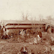 Train Wreck, 1890s Poster