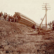 Train Wreck, C1900 Poster