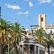 Tram In Lisbon Poster