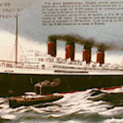 Transatlantic Liner, 1912 Poster
