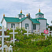 Transfiguration Of Our Lord Russian Orthodox Church In Ninilchik-ak Poster